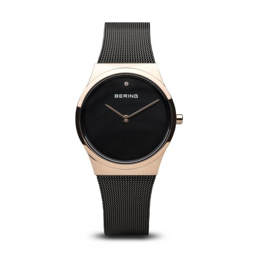 Bering - Ladies Classic, Swarovski Crystal Set, Stainless Steel and Rose Gold Plated Watch