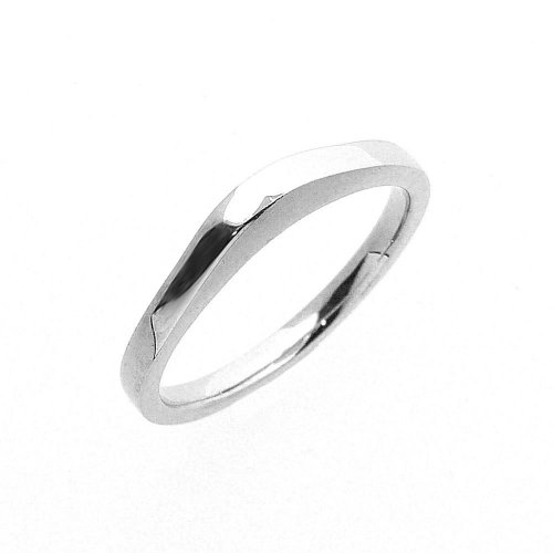 Shaped Wedding Band in Platinum