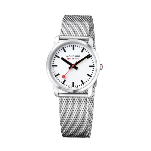 Mondaine - Ladies, Stainless Steel with Mesh Bracelet Watch