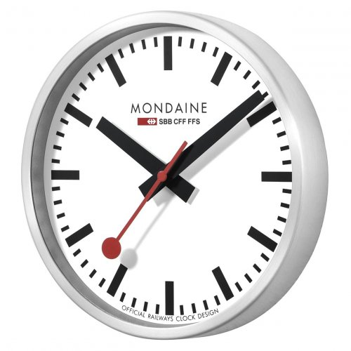 Mondaine - Stainless Steel White, Wall Clock