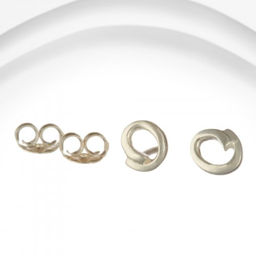 Banyan - Silver Relaxed Oval Stud Earrings