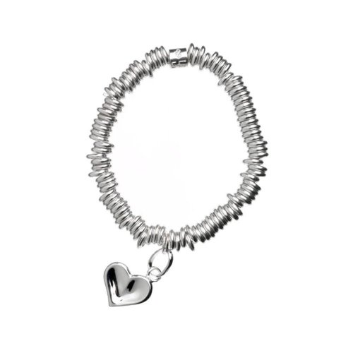 Links of London - Sweetie, Silver Childs Thumb Print Bracelet With Heart