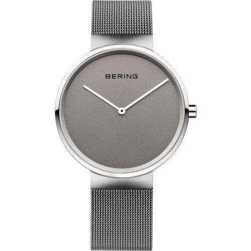 Bering - Gents, Stainless Steel Mesh Band With Grey Dial Watch