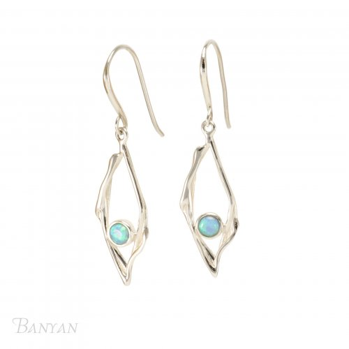 Banyan - Blue Opalite Set, Sterling Silver Earrings
