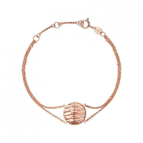 Links of London - Thames , Sterling Silver with Rose Gold Plate Double Row Bracelet