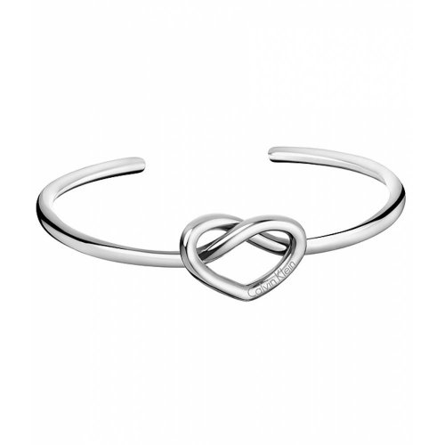 Calvin Klein - Charming, Stainless Steel Heart Cuff Bangle, Size Medium