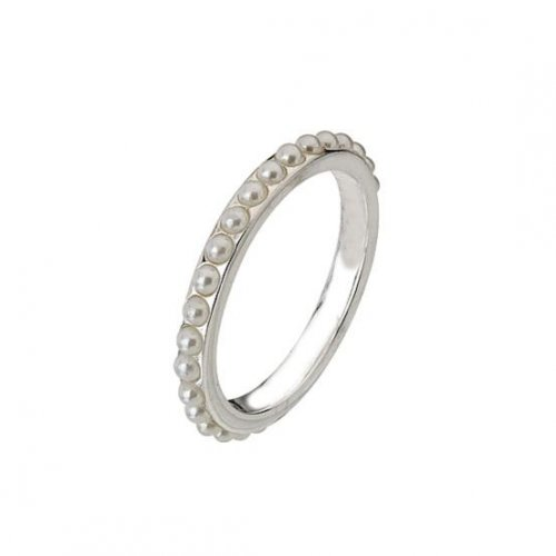 Virtue - Pearl Set, Sterling Silver Eternity Ring