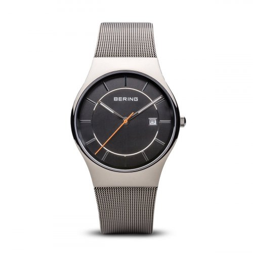 Bering - Men's Classic, Stainless Steel Milanese Strap Watch