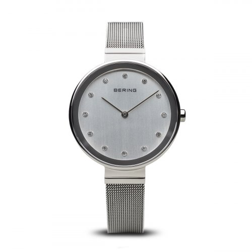 Bering - Ladies Classic, Stainless Steel Milanese Strap Watch