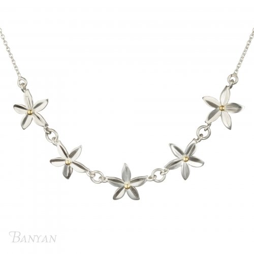 Banyan - Silver Flower Necklace