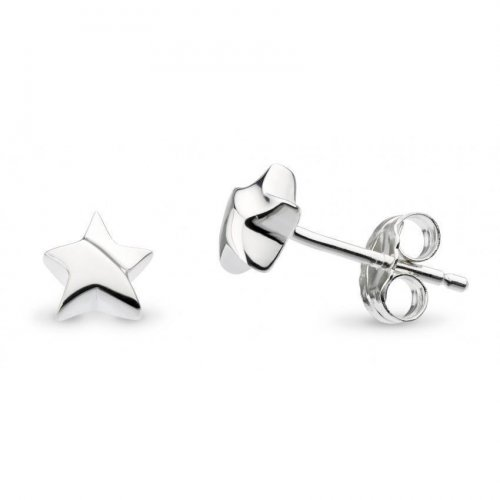 Kit Heath - Miniature, Sterling Silver Shining Star, Stud Earrings