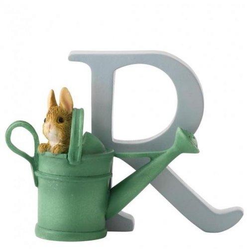 Enesco - Peter Rabbit in Watering Can, Alphabet, Initial R Figurine