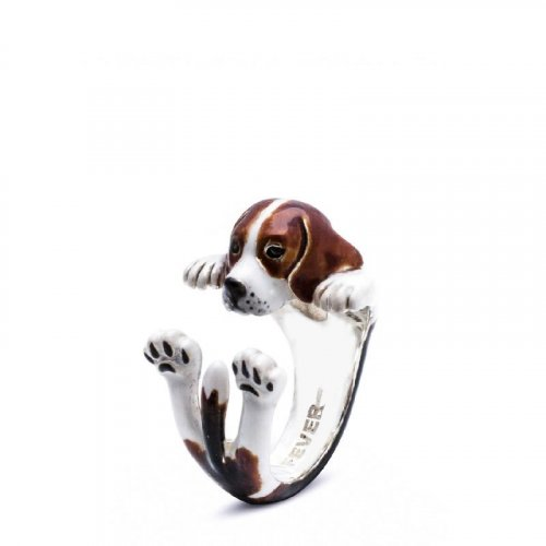 Dog Fever - Beagle - Dog Ring in Sterling Silver and Enamel