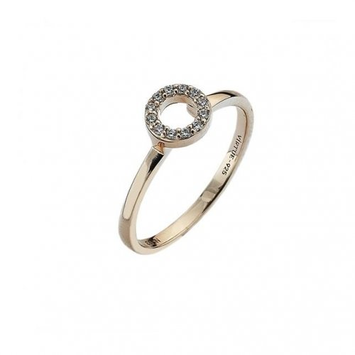 Virtue - Cubic Zirconia Set, Rose Gold Plated Ring