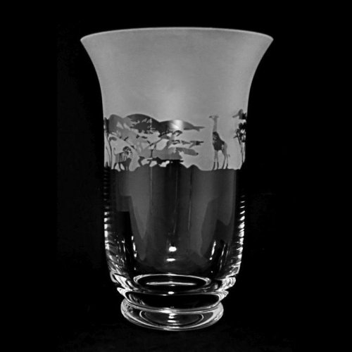 Animo Glass - Safari, Frosted Glass Flared Vase, Size 23. 5 cm