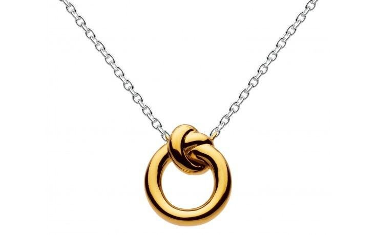 Kit Heath - Amity, Sterling Silver and 18ct  Yellow Gold Plate Knot Pendant  Necklace, Size 18