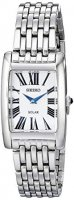 Seiko - Solar, Stainless Steel Rectangular Solar Dress watch on bracelet