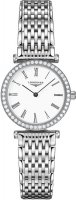 Longines - Grand Classique, Dia 0.302 Set, Stainless Steel - Crystal Glass - Quartz Watch, Size 24mm