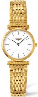 Longines - Grand Classique, Yellow Gold Plated - Stainless Steel - Crystal Glass Quartz Watch, Size 24mm
