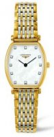 Longines - Grand Classique, Dia MOP Set, Yellow Gold Plated - Stainless Steel - Crystal Glass Quartz Watch