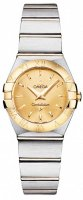 Omega - Constellation, Stainless Steel/Tungsten - Yellow Gold - Quartz Watch, Size 24mm