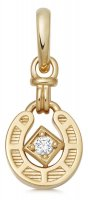 Links of London - Ascot, White Sapphire Set, Yellow Gold Plated - Horseshoe Charm
