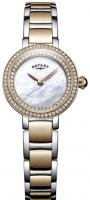 Rotary - MOP CZ Set, Stainless Steel/Tungsten - Yellow Gold Plated - Crystal/Glass Quartz Watch
