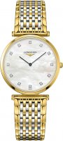 Longines - Diamond Set, Stainless Steel - Yellow Gold Plated - La Grande Classique