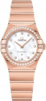 Omega - Constellation, Dia 0.40 MOP Set, Rose Gold - Quartz Watch, Size 25mm