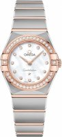 Omega - Constellation , Dia 0.40 MOP Set, Stainless Steel/Tungsten - Rose Gold - Quartz Watch, Size 25mm