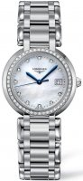 Longines - Prima Luna, Dia 0.044 MOP Set, Stainless Steel/Tungsten - Glass/Crystal - Quartz Watch, Size 30mm