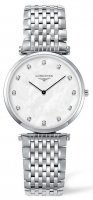 Longines - Grande Classique, Mother of Pearl and Diamonds Set, Stainless Steel - Watch