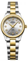 Rotary - Oxford, Dia Set, Stainless Steel/Tungsten - Crystal/Glass - Yellow Gold Plated Quartz Watch