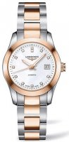 Longines - Conquest Classic, DIA MOP Set, Stainless Steel - Crystal Glass - Rose Gold Plated Automatic watch, Size 29mm