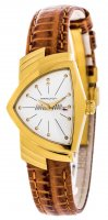Hamilton - Ventura, Yellow Gold Plated Quartz Leather Strap Watch