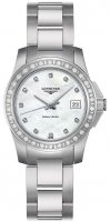 Longines - Conquest, Mother of Pearl and Diamond Set, Stainless Steel - Watch